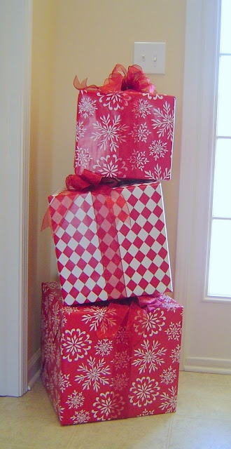 Stacked Red Gifts