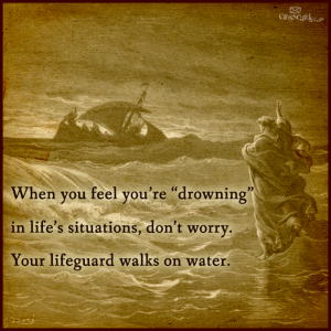 Lifeguard walks on water