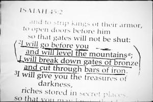 Isaiah 45 2